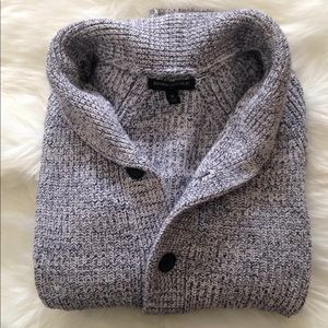 Men's button up sweater